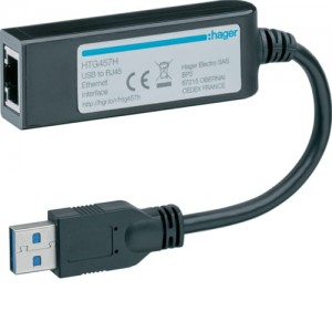 Adapter USB-RJ45 Ethernet Hager HTG457H