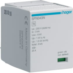 Hager SPN043N Cartridge 3KA 255/440V