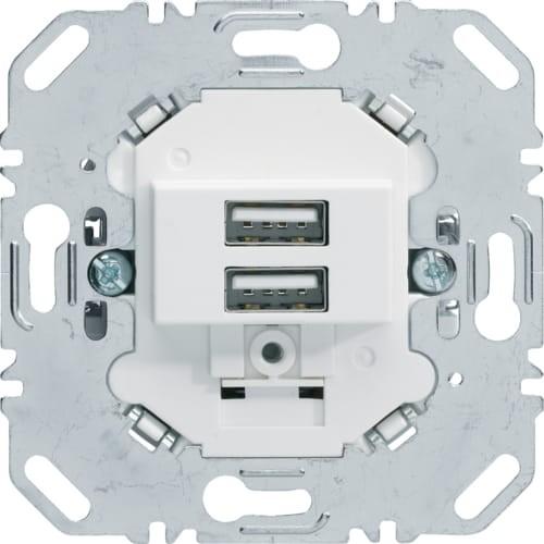 one.platform Mechanizm gniazda USB ładowania 3.0 A 230 V, biały, mat Berker 260209